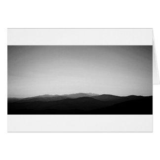 BW Blue Ridge Mountains Greeting Card
