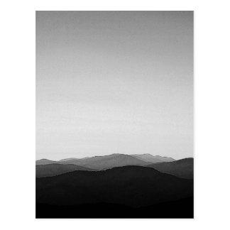 BW Blue Ridge Mountains Postcard