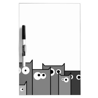bw cats dry erase board