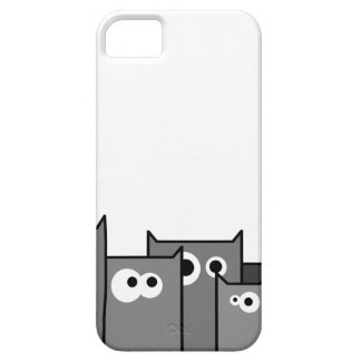 bw cats iPhone 5 cover