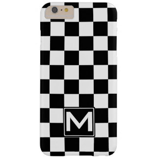 BW Checkered Monogram Barely There iPhone 6 Plus Case