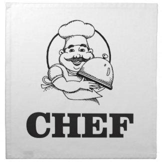 bw chef art napkin