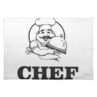 bw chef art placemat