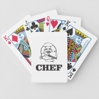 bw chef art poker deck