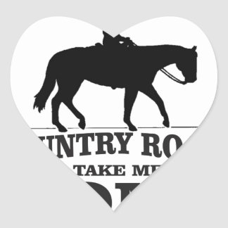 bw country roads take me home heart sticker