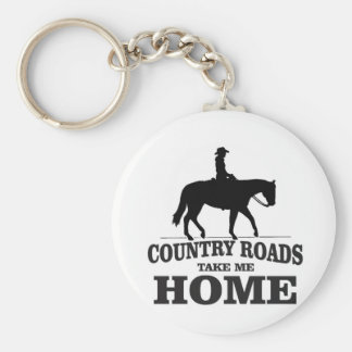 bw country roads take me home keychain