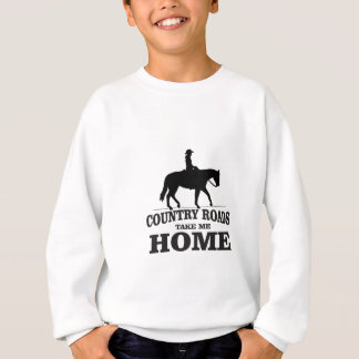 bw country roads take me home sweatshirt