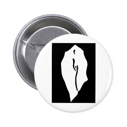 bw figure pinback button