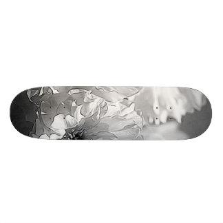 BW Garden Flowers Custom Skateboard