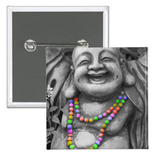 bw gay buddah 2 inch square button