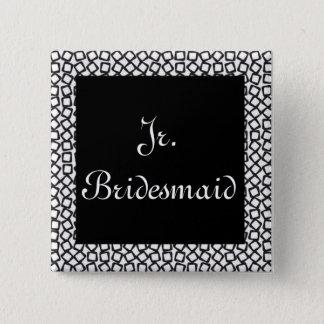 BW Jr. Bridesmaid 2 Inch Square Button