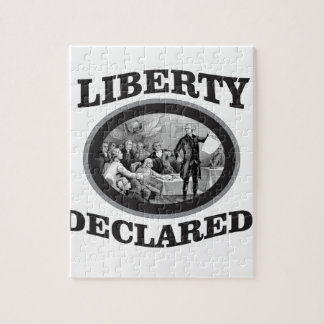 bW liberty declared Jigsaw Puzzle