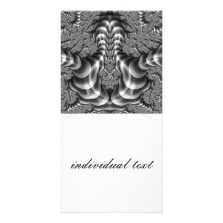 BW magnificently Fractal Photo Card