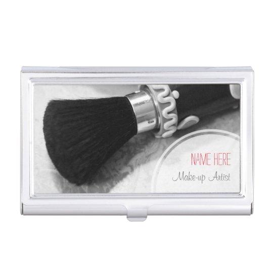 BW Make-up Brush Business Card Holder