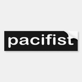 BW_pacifist Bumper Sticker