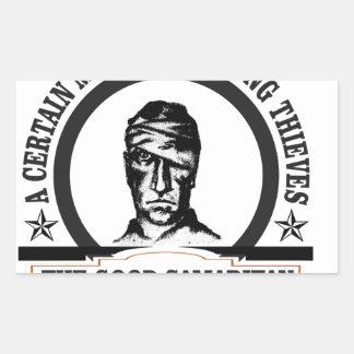 bw samaritan art sticker