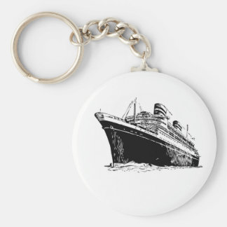bw ship floats in basic round button keychain