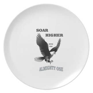 bw soar higher with god party plates
