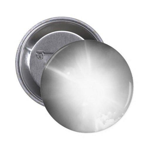 BW sun Pinback Button