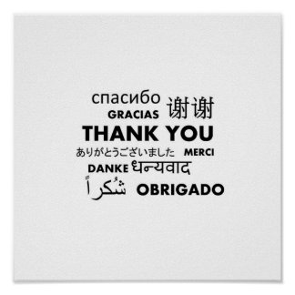 BW Thank you Poster
