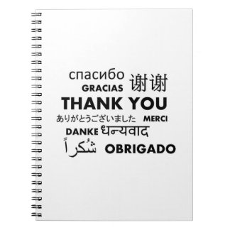 BW Thank you Spiral Notebooks