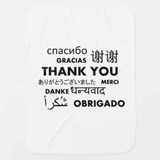 BW Thank you Stroller Blankets