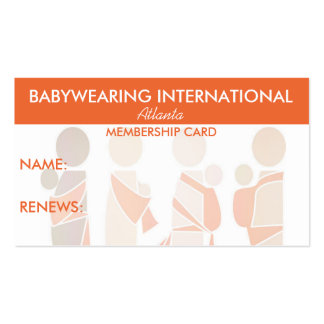 BWI Membership Card Business Cards