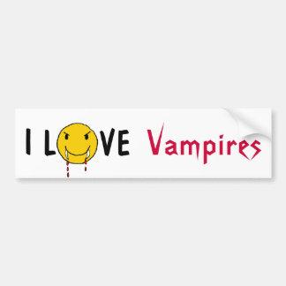BX- I Love Vampires Bumper Sticker