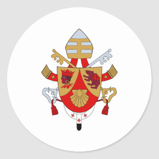 BXVI Pope Coat Emblem Heraldry Official Symbol Round Sticker