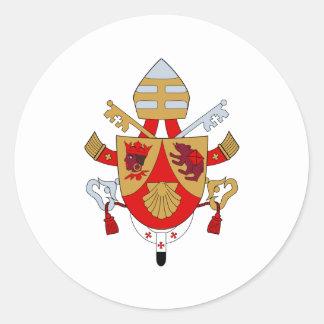 BXVI Pope Coat Emblem Heraldry Official Symbol Classic Round Sticker