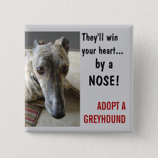 by a NOSE! 2 Inch Square Button