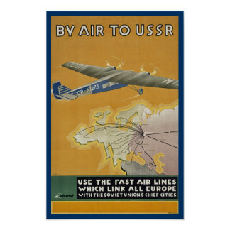 By Air to USSR Poster