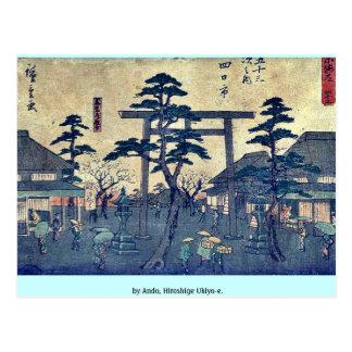by Ando, Hiroshige Ukiyo-e. Postcard