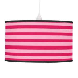 by Cinnamon Pink stripped modern lamp