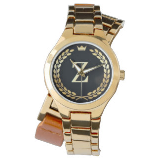 by Eddie Monte' Leather & Gold wrapped watch