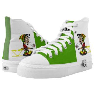 by Eddie Monte' Rasta foot wear High Tops