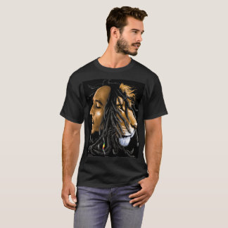 by Eddie Monte'  Zooted Bob & Lion of Judah T-s T-Shirt