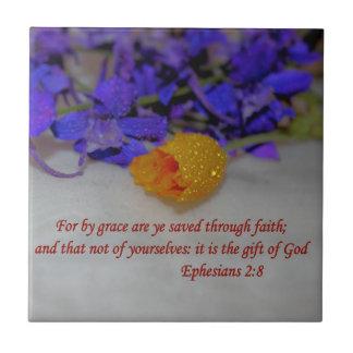 By Grace - Ephesians 2:8 Tile