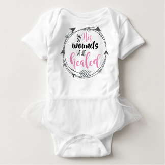 By His Wounds we are Healed Baby Bodysuit