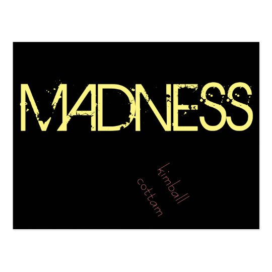 "By Kimball Cottam ""Madness"" Postcard"