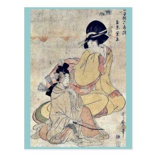 by Kitagawa, Utamaro Ukiyo-e. Postcard
