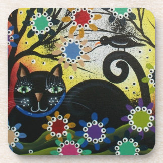 By Lori Everett_ Day Of The Dead,Cat,Cork Coasters