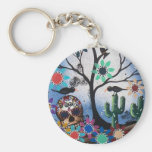 By Lori Everett_ Day Of The Dead,Mexican,Skull,DOD Keychains