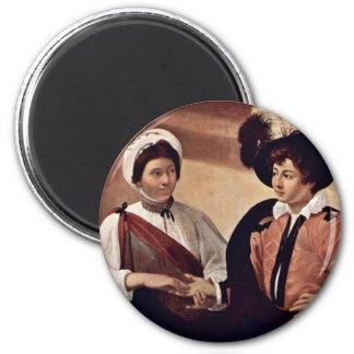 By Michelangelo Merisi Da Caravaggio 2 Inch Round Magnet