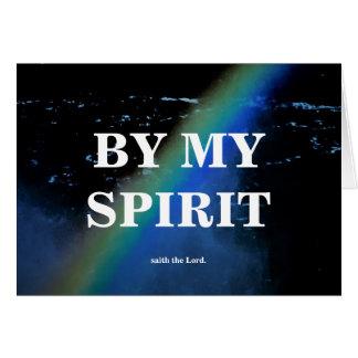 BY MY SPIRIT./I AM GOD CARD