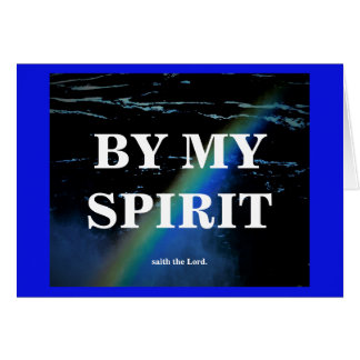 BY MY SPIRIT./THE LORD IS WITH YOU CARD