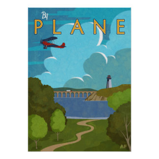 By Plane Poster