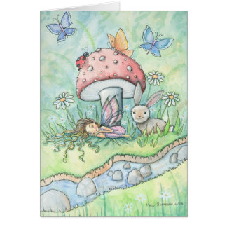 By the banks of Silver Stream Fairy Card