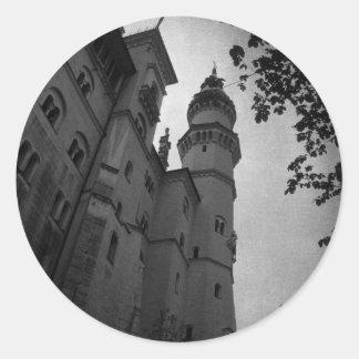 By the Castle Round Sticker