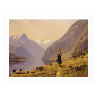 By the Fjord (Norwegian) by Hans Dahl Postcard